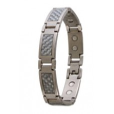 Grey Carbon Fibre Stainless Bracelet - #348