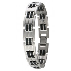 Executive Rubber Stainless Bracelet - #353