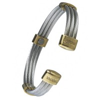 Trio Cable Stainless/Gold - #363